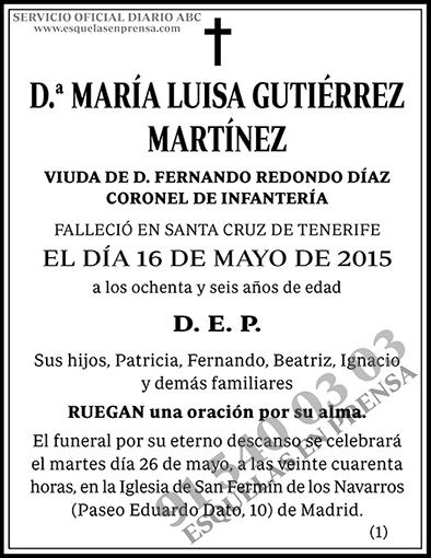 María Luisa Gutiérrez Martínez